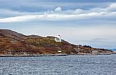 Lighthouse Agdenes Fyr (Agdenes fyrstasjon) in the Trondheimsfjorden (Trondheimfjord), Sör-Trondelag Province, Trondelag, Norway, Europe