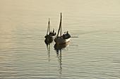 Sail boats in Sortland at Sortlandsundet, Langoeya, Vesteralen, Nordland Province, Norge, Norway, Europe
