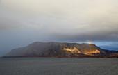 Dramatic light at Broennöysund, archipelago, Helgeland, Nordland Province, Nordland, Norway, Europe