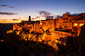 Evening mood in Pitigliano, Tuscany, Italy