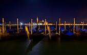 Nighttime view of San Giorgio Maggiore, Venice, Veneto, Italy