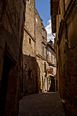 In the alleys of Sorano, Grosseto Province, Tuscany, Italy