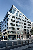 Modern architecture by Daniel Libeskind, Sapphire residential building, Torstrasse, Berlin Mitte, Germany