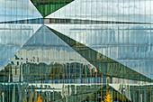 Cube Berlin, modern office building on Washingtonplatz near the main train station, glass facade, Berlin, Germany