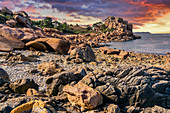 Ploumanach, Pink Granite Coast, Perros Guirec, Brittany, France