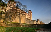 View to Marienberg Fortress, Würzburg, Lower Franconia, Bavaria, Germany