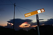Sonnenuntergang, Blick von Patresi la Guardia, West-Küste, Elba, Toskana, Italien