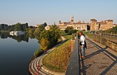 Mantua with bridge and castello, Lombardy, Italy