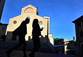 Piazza Duomo, San Gimignano, Toskana, Italien