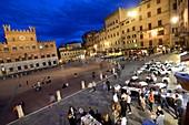 at Piazza del Campo, Siena, Tuscany, Italy