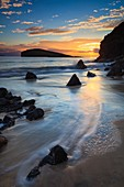 Sunset captured from the beach at Oldshoremore, near Kinlochbervie on the North West Coast of Scotland.