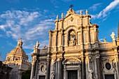 Saint Agathe Cathedral and Badia di Sant'Agata's dome, Catania, Sicily, Italy