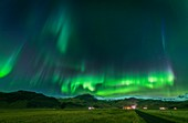 Aurora Borealis, Mt. Eyjafjoll, Iceland