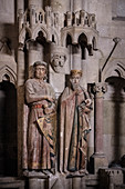 "UNESCO World Heritage Site ""Naumburg Cathedral"", donor figures Ekkehard II and Uta, Naumburg (Saale), Burgenlandkreis, Saxony-Anhalt, Germany"