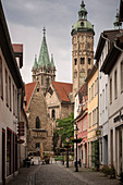 "UNESCO World Heritage Site ""Naumburg Cathedral"", view from the old town to the cathedral, Naumburg (Saale), Burgenlandkreis, Saxony-Anhalt, Germany"