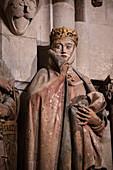"UNESCO World Heritage Site ""Naumburg Cathedral"", donor figure Uta, Naumburg (Saale), Burgenlandkreis, Saxony-Anhalt, Germany"