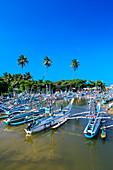 Fishing boats near Galle, Sri Lanka, Asia