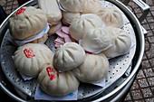Dim sum, Chinese dumplings, Ho Chi Minh City, Vietnam, Indochina, Southeast Asia, Asia