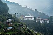 Trongsa Dzong, Trongsa, Bhutan, Himalayas, Asia