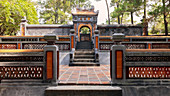 Tomb of Empress Le Thien Anh in Emperor Tu Duc's Royal tomb, Hue, Vietnam, Indochina, Southeast Asia, Asia