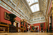 Interior of The State Hermitage Museum, UNESCO World Heritage Site, St. Petersburg, Leningrad Oblast, Russia, Europe