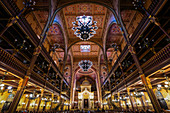Interior of the Dohany Street Synagogue, Budapest, Hungary, Europe
