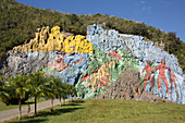 Mural of Prehistory, Vinales Valley, UNESCO World Heritage Site, Cuba, West Indies, Caribbean, Central America