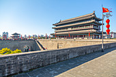 View of the City wall of Xi'an, Shaanxi Province, People's Republic of China, Asia
