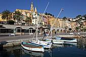 Vieux Port, Menton, Provence-Alpes-Cote d'Azur, France
