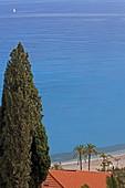 Plage des Sablettes, Menton, Provence-Alpes-Cote d'Azur, France