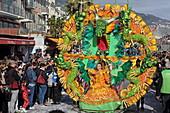 Parade at the Lemon Festival, Menton, Provence-Alpes-Cote d'Azur, France