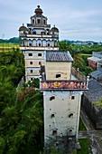 China, Guangdong, Kaiping, Unesco World Heritage, Jianjiangli village, the Diaolou are multi storey watchtowers