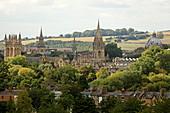Blick vom South Park auf die Altstadt von Oxford, Oxfordshire, England