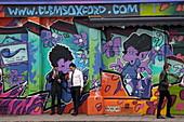 Graffiti in der Altstadt von Oxford, Oxfordshire, England