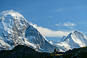 View of Eiger, from First, Grindelwald, Bernese Oberland, UNESCO World Natural Heritage Swiss Alps Jungfrau-Aletsch, Bernese Alps, Bern, Switzerland