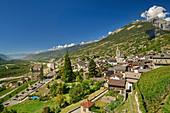 Leuk with Rhonetal, Leuk, Valais, Switzerland