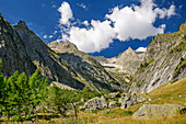 View over Baltschiedertal to Bernese Alps, Bernese Alps, Valais, Switzerland