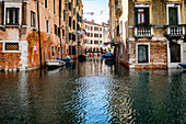 View of a canal and facades in Cannaregio, Venice, Veneto, Italy, Europe