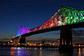 Iluminated Jacques Cartier Bridge, Montreal, Quebec, Canada