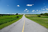 Rural ountry road, Quebec, Canada