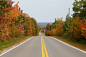 Country road in autumn, Quebec, Canada