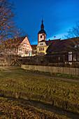 Abends in Markt Nordheim, Sugenheim, Neustadt an der Aisch, Mittelfranken, Franken, Bayern, Deutschland, Europa