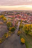 Ältester Hafen Bayern in Marktsteft, Kitzingen, Unterfranken, Franken, Bayern, Deutschland, Europa