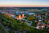 Hirschberg Castle at sunset, Beilngries, Eichstaett, Upper Bavaria, Bavaria, Germany, Europe