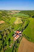 The Holdermühle near Tauberzell, Adelshofen, Ansbach, Middle Franconia, Franconia, Bavaria, Germany, Europe