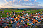 Aerial view of Altmannshausen, Markt Bibart, Neustadt an der Aisch, Middle Franconia, Franconia, Bavaria, Germany, Europe