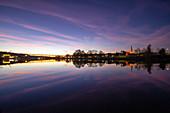 Evening mood on the Main near Segnitz, Marktbreit, Kitzingen, Lower Franconia, Franconia, Bavaria, Germany, Europe