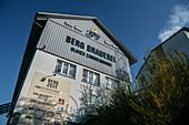 Visitor building of the Berg Brewery, Ehingen, Danube, Alb-Donau district, Baden-Württemberg, Germany