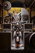 historical machine in Berg brewery, Ehingen, Danube, Alb-Donau district, Baden-Württemberg, Germany