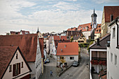 Old town view to the Church of the Assumption, Dillingen an der Donau, Bavaria, Germany